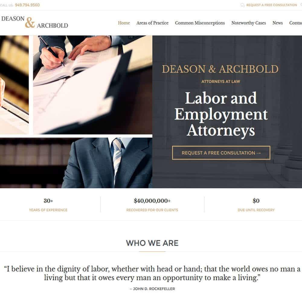Legal Web Design Services In Orange County Ca