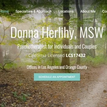 Screenshot of Donna's Website