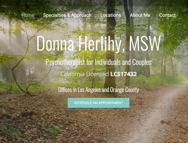 Screenshot of Donna's Website