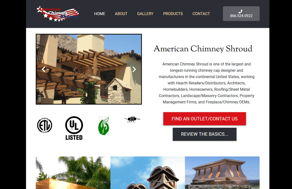 americain chimney shroud